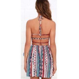 Lulus Tribal Halter Dress